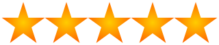 5 star rating orange transparent