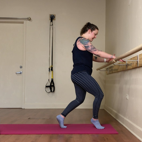 Barre Fitness class #2 video thumbnail Nicole Adams Origin House of Fitness 27min mark
