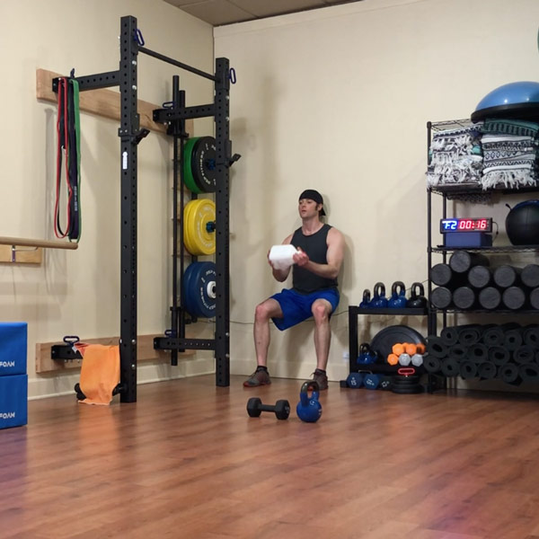 origin house of fitness online class weighted wall sit 19 min mark