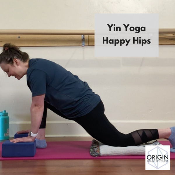 Origin House of Fitness Online video: Yin Yoga Happy Hips with Nicole Adams
