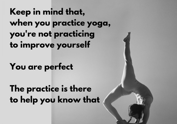 Maty quote in yoga pose