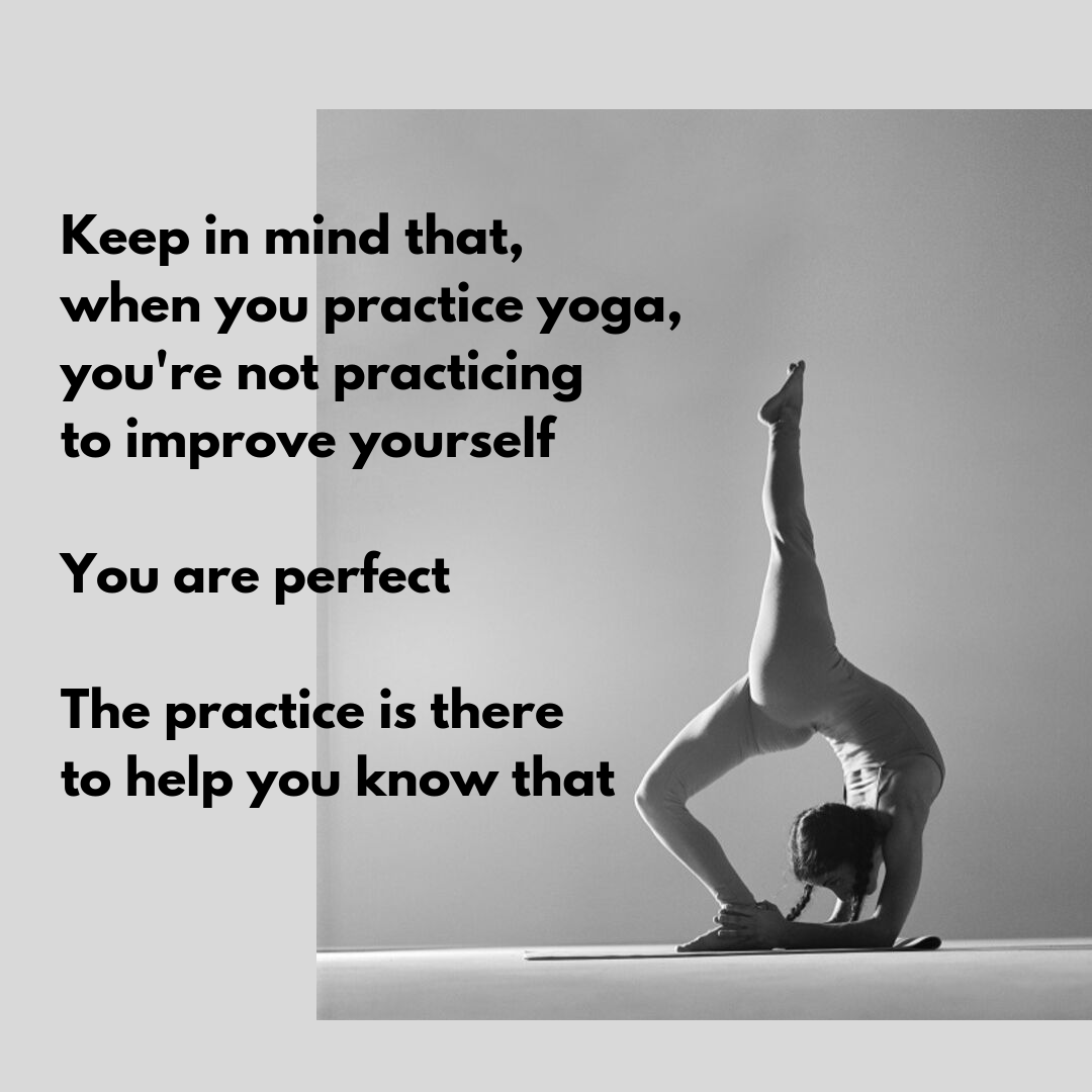 woman in yoga pose with quote